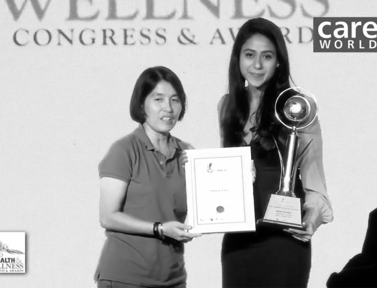 Nmami becomes the Most Promising Dietitian, 2017 (World Health & Wellness Congress & Awards)